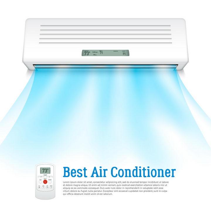 空调里吹出的蓝色冷风制冷效果图片免抠矢量素材 生活素材-第1张
