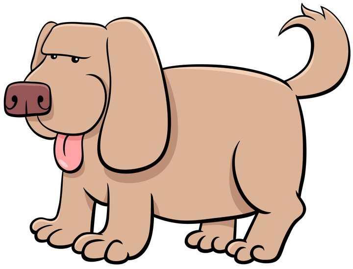 卡通哈巴狗宠物狗图片免抠素材