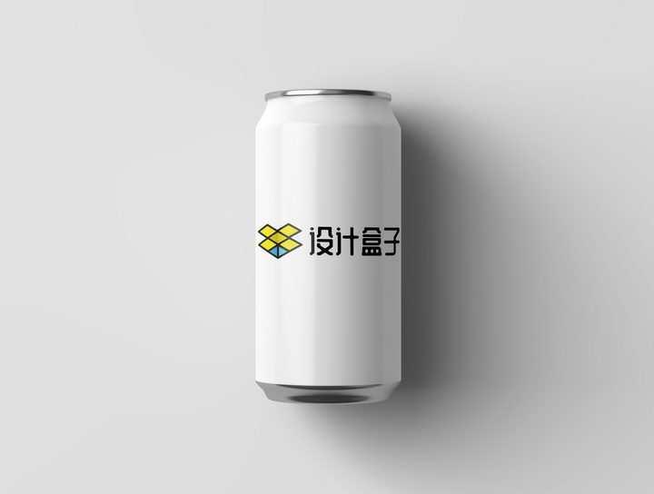 空白的易拉罐上的品牌宣传PSD样机图片模板