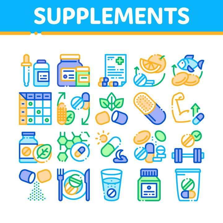 MBE断点线条风格营养健康医疗医学行业图标图片免抠矢量素材