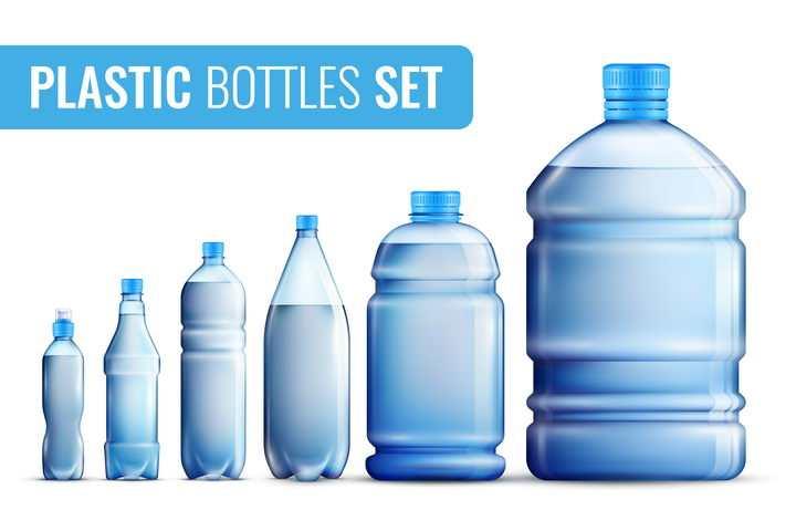 从矿泉水瓶到桶装水等纯净水图片免抠素材
