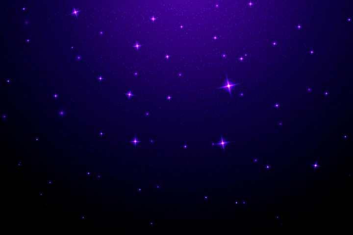 紫色星空繁星背景图