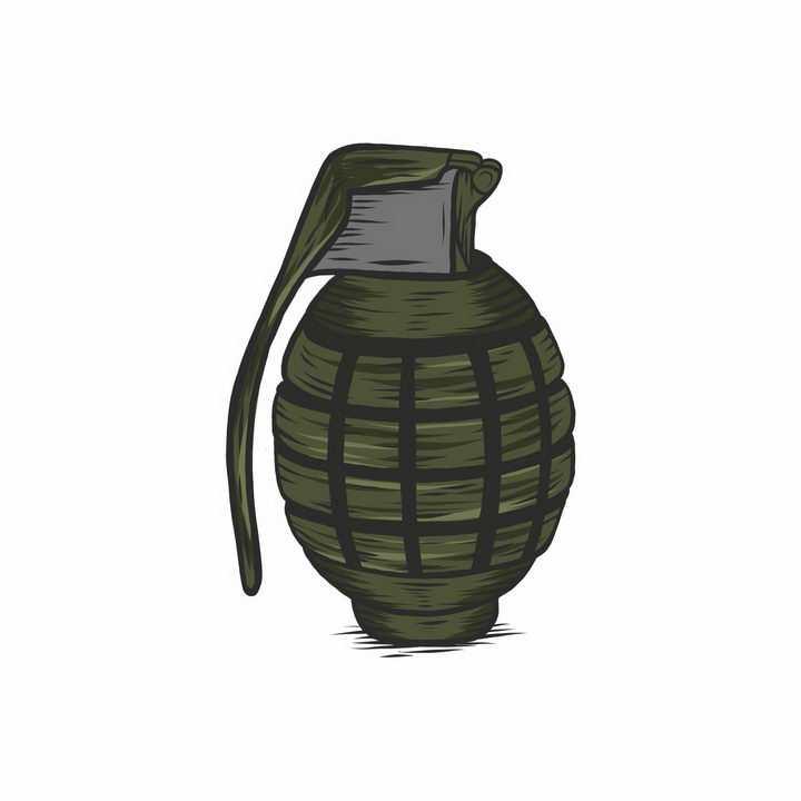 手绘风格手榴弹武器装备图片png免抠素材