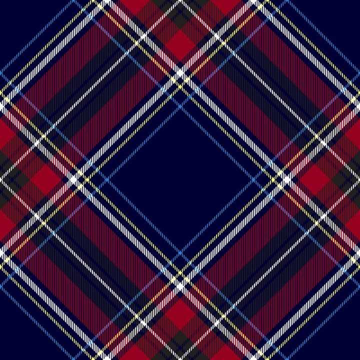 旋转45°的红蓝色花格子布背景图片