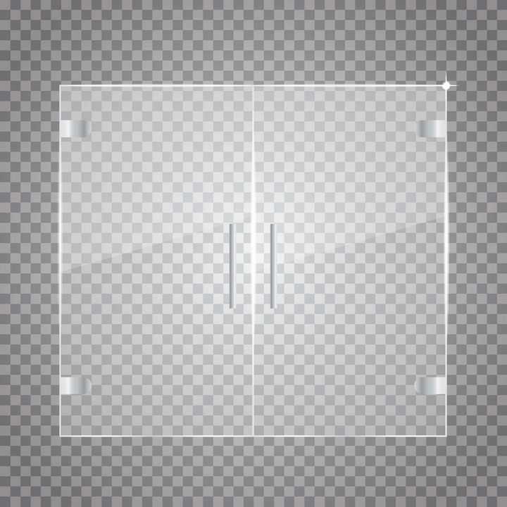 半透明的玻璃窗户卫生间门图片免抠矢量素材