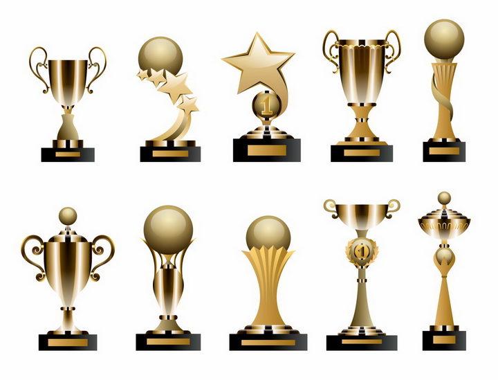 10款金属镀金材质的比赛奖杯金杯图片png免抠素材 生活素材-第1张