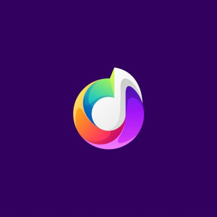创意彩色音符音乐类logo设计方案免抠矢量图素材