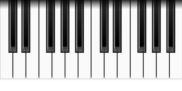 逼真的钢琴按键图片免抠矢量素材