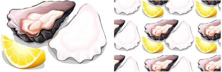 柠檬和生蚝海鲜美味美食图片免抠矢量图素材