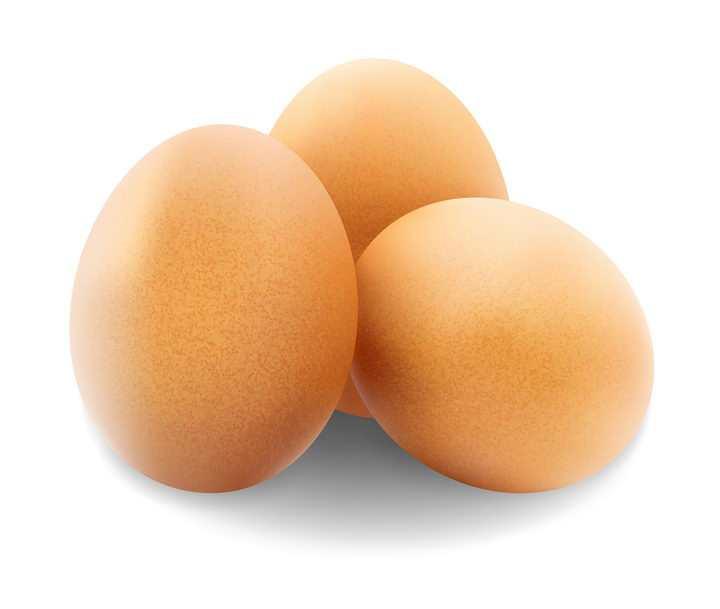 3颗完整的鸡蛋图片免抠矢量素材