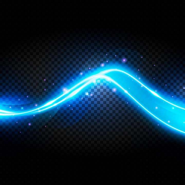 S形蓝色绚丽动感光线光带效果图片免抠矢量图素材