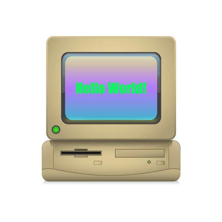 复古风格电脑计算机图片免抠矢量素材