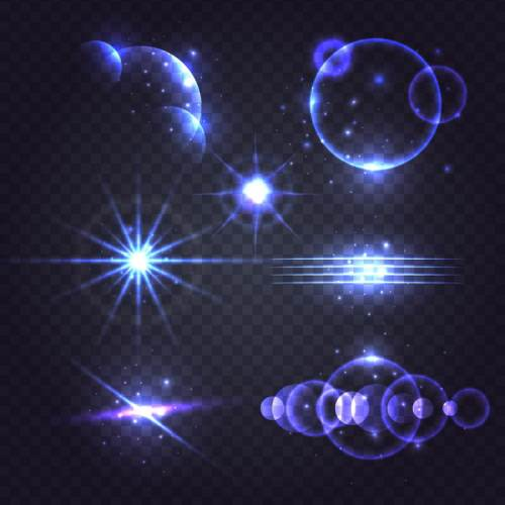 各种紫色光芒星光效果图片免抠矢量图素材