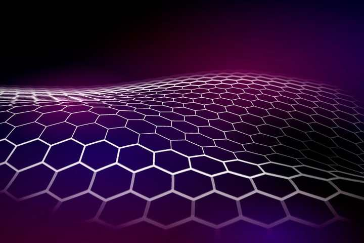 紫色六边形蜂巢状网格背景图