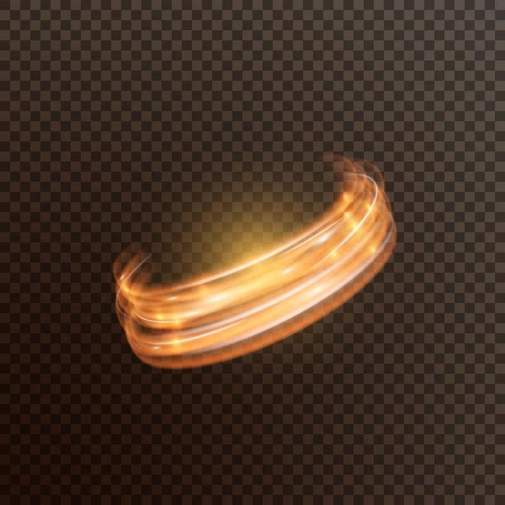 旋转的光环动感光线效果图片免抠矢量图素材 效果元素-第1张