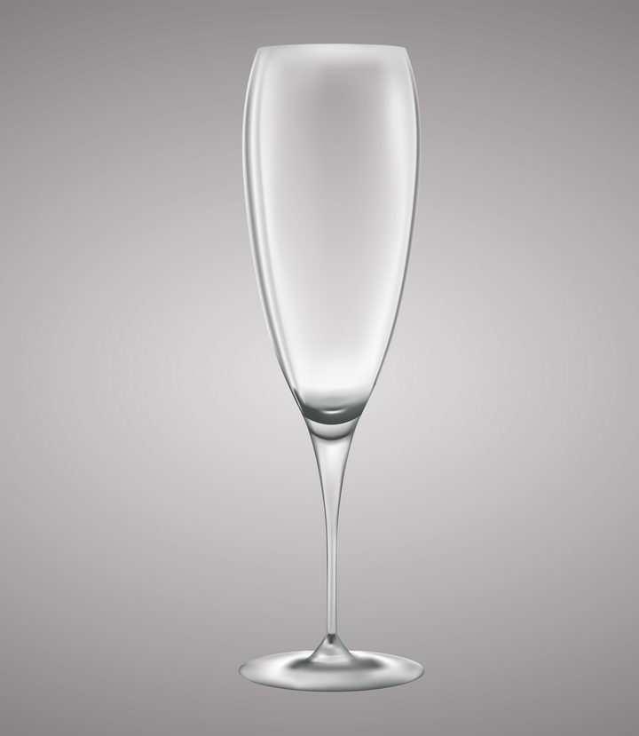 半透明高脚杯葡萄酒酒杯玻璃杯图片免抠素材
