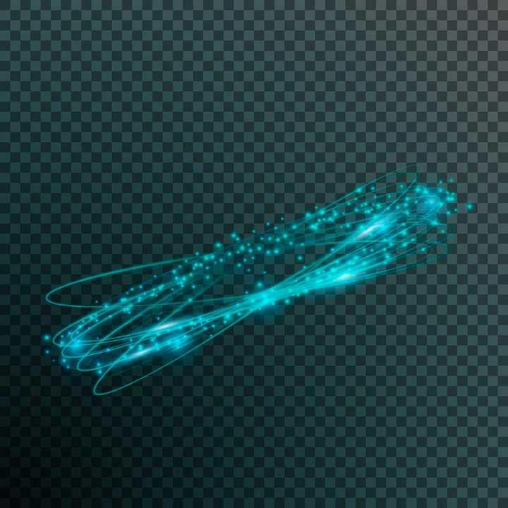 蓝色发光光环动感光线效果图片免抠矢量图素材