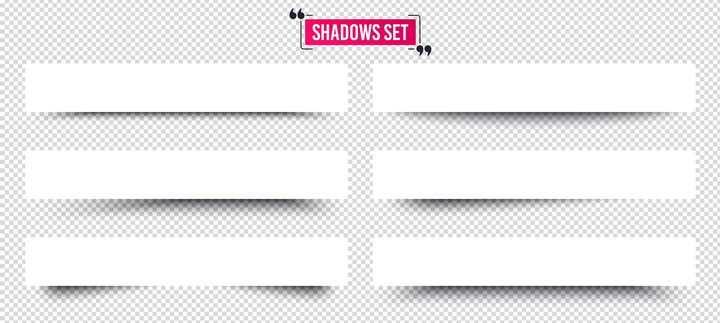 6种不同阴影风格的空白横幅文本框图片免抠素材