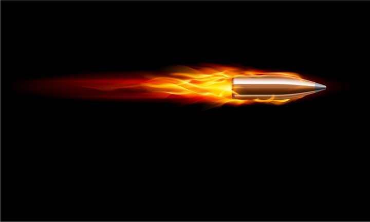 飞行中带着火焰的子弹图片png免抠素材