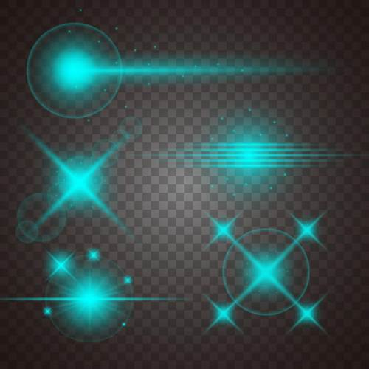 多种蓝色星光光线效果图片免抠矢量图素材