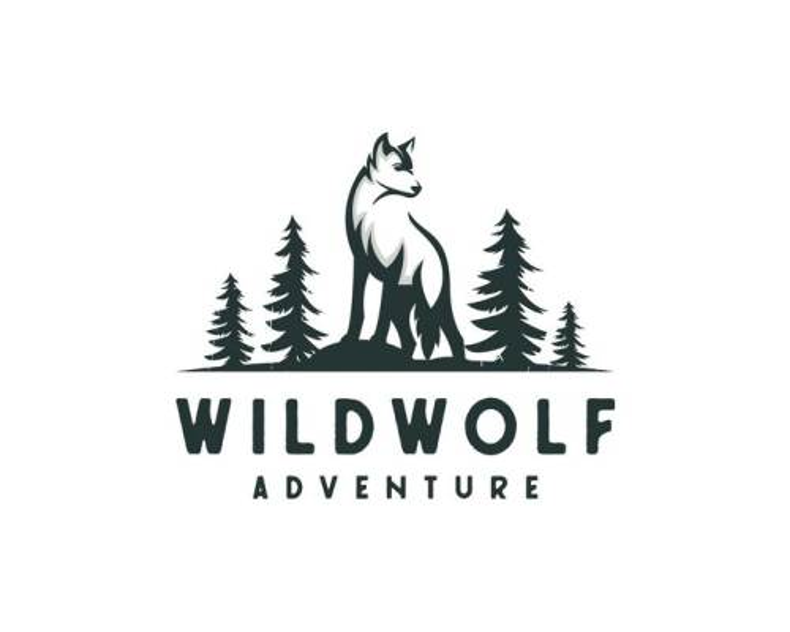 森林狼LOGO设计方案图片免抠矢量素材