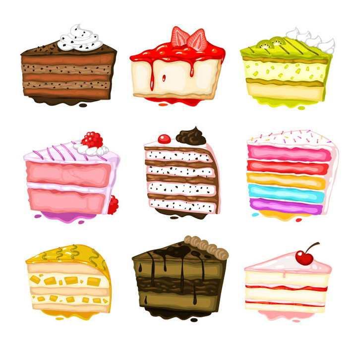 9款逼真的奶油蛋糕美食图片免抠素材