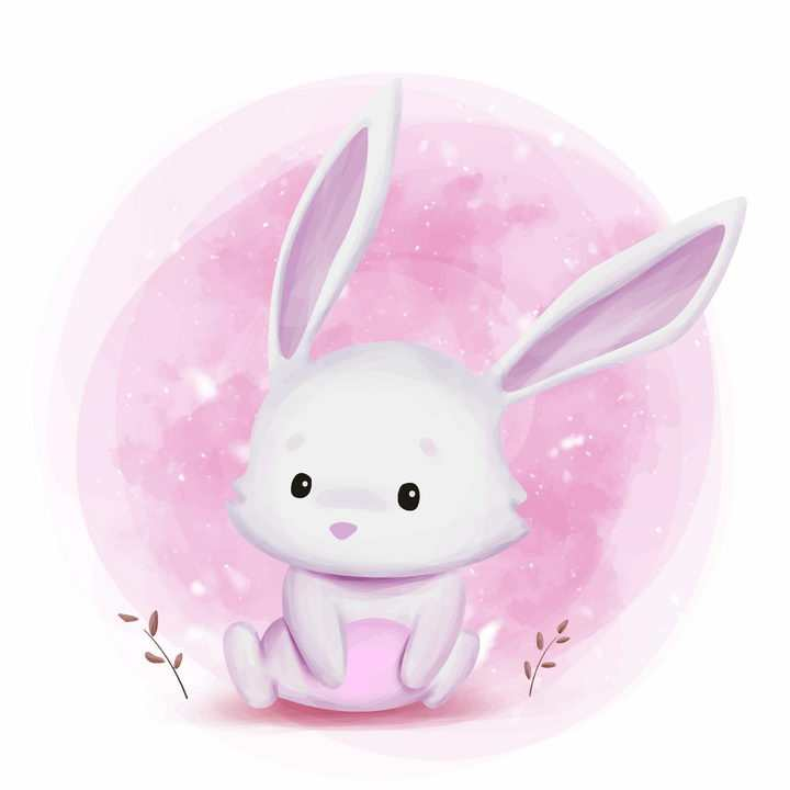 可爱的大耳朵卡通小兔子图片免抠矢量素材