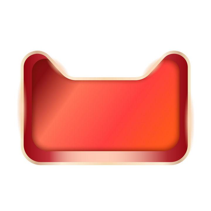 立体盒子状天猫猫头背景框图片免抠矢量素材 电商元素-第1张