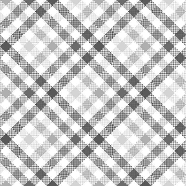 旋转45°的灰白色花格子布背景图片