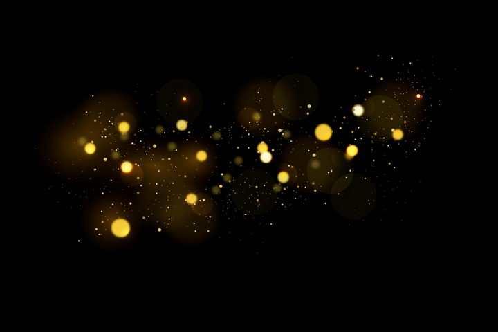 金色宇宙星空星光光晕光斑效果图片免抠矢量图素材