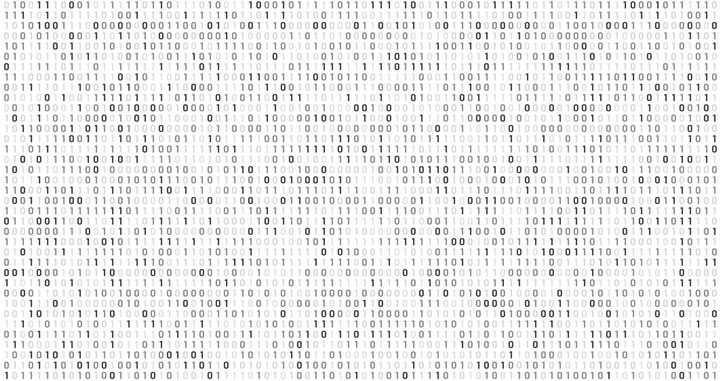 创意黑客风格数字01装饰图片免抠矢量图