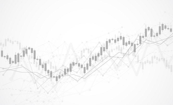 灰色风格的股票走势图装饰背景图图片免抠矢量素材