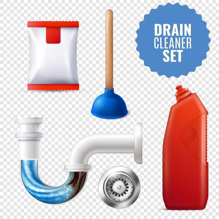 皮橛子通下水道通厕灵地漏等卫生间用品图片免抠矢量素材
