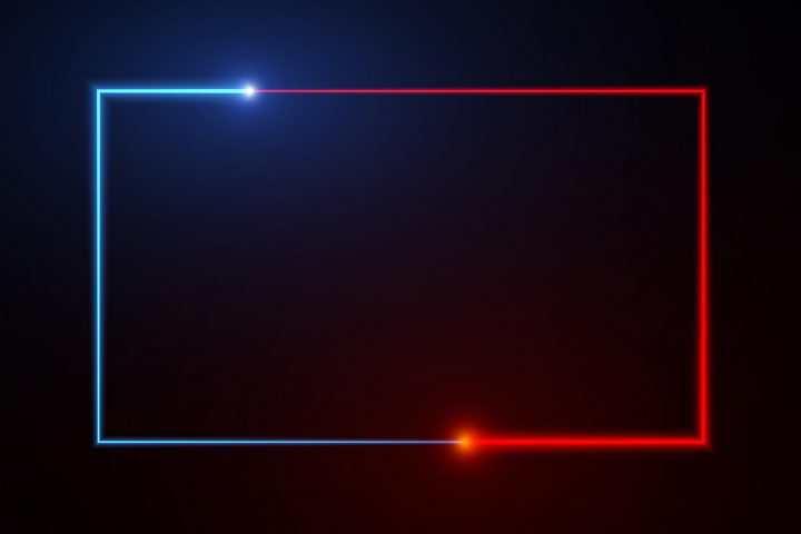 酷炫的蓝光和红光组成的方框图片免抠矢量素材