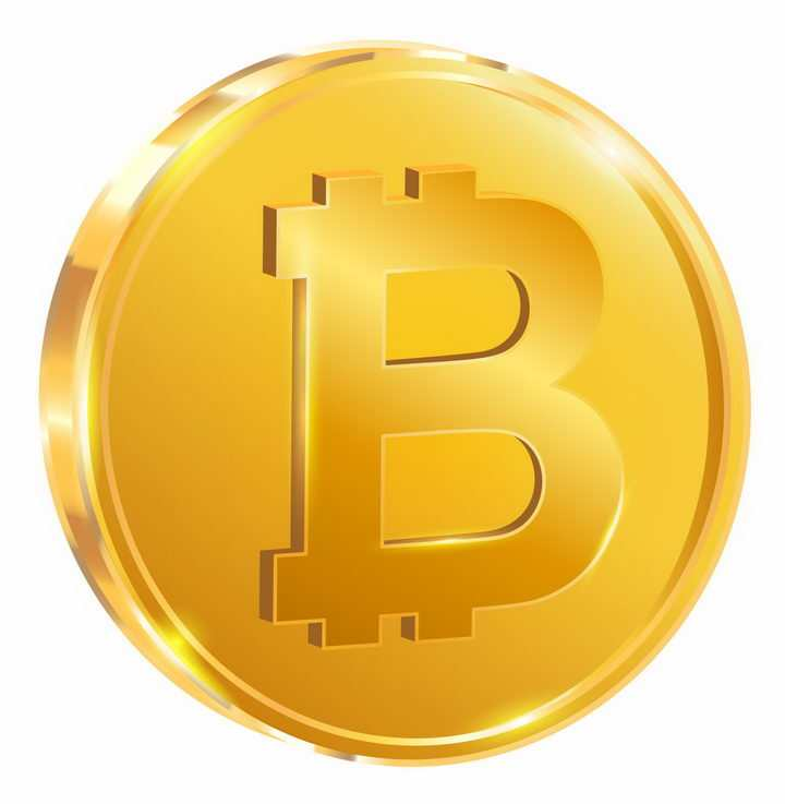 逼真的虚拟货币比特币金币png图片免抠eps矢量素材