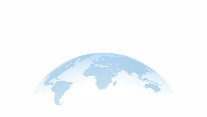 半透明淡蓝色地球世界地图装饰png图片免抠eps矢量素材 科学地理-第1张