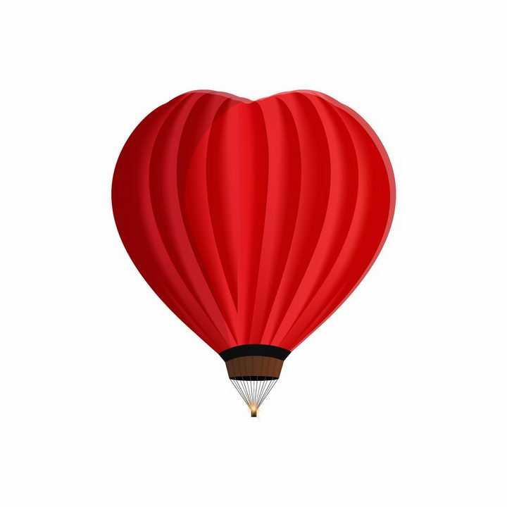 红色爱心红心形状的热气球图片png免抠素材