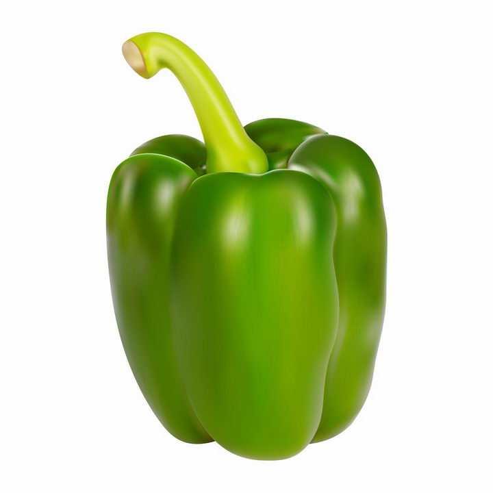 一个逼真的青椒菜椒灯笼椒辣椒美味蔬菜png图片免抠EPS矢量素材