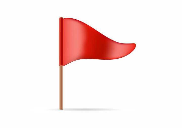 一个红色的三角旗定位标志png图片免抠矢量素材