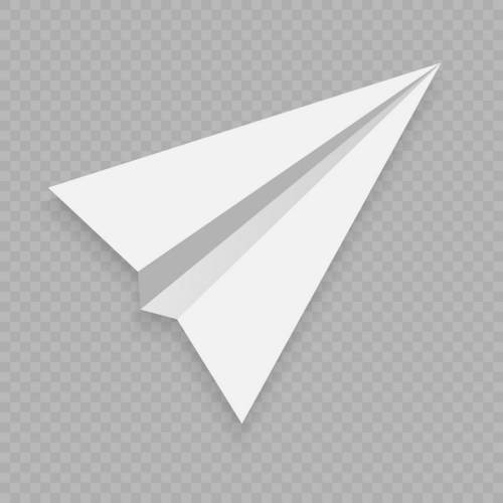 一架白色的折纸纸飞机png图片免抠矢量素材