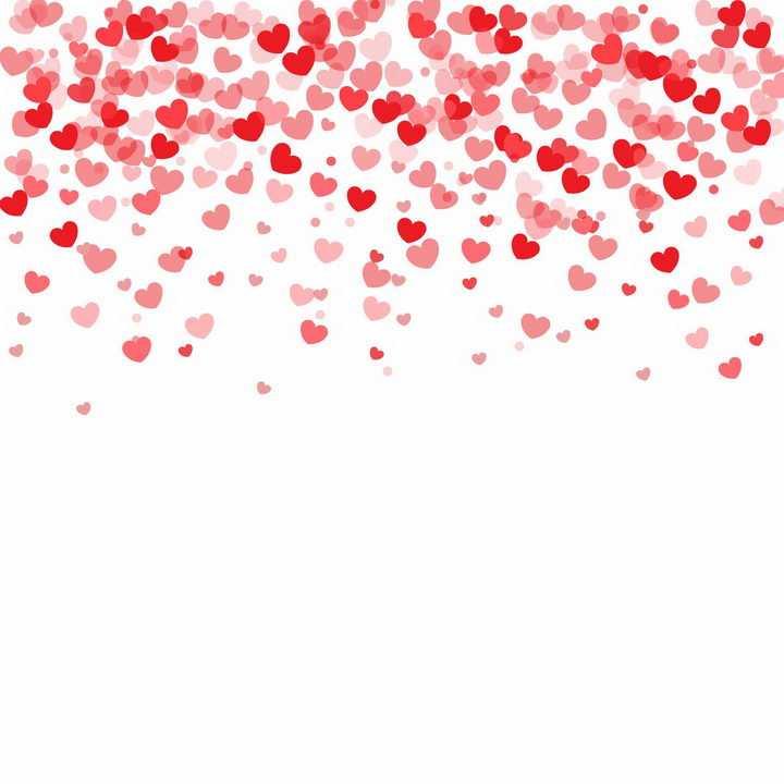 飘落的红心心形符号图案装饰png图片免抠eps矢量素材