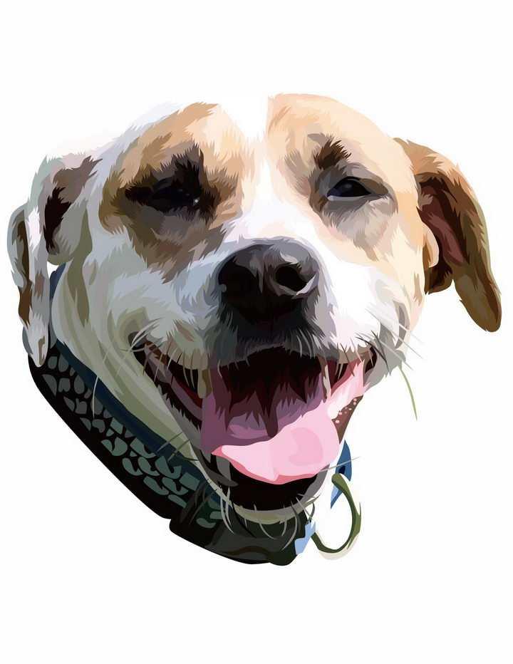 彩绘拉布拉多犬宠物狗品种png图片免抠矢量素材