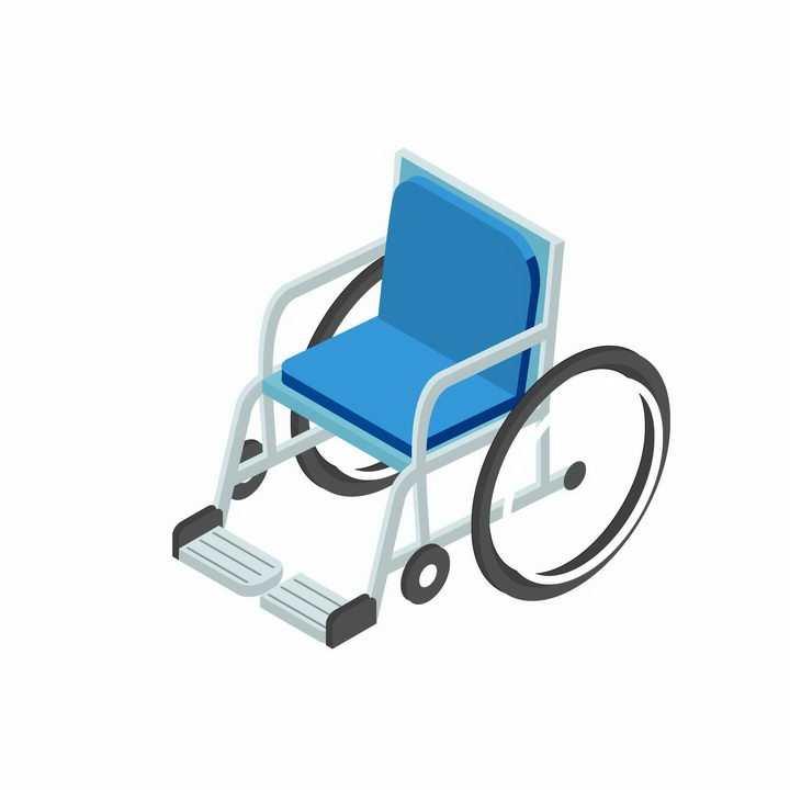 2.5D风格残疾人用的轮椅医疗工具png图片免抠矢量素材