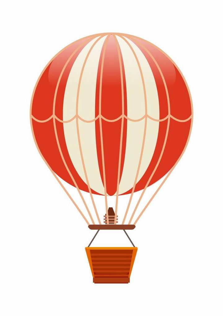 黄色红色相间的条纹图案热气球图片png免抠素材