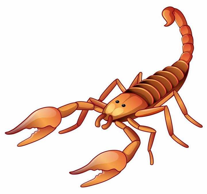 卡通风格的蝎子有毒昆虫png图片免抠矢量素材
