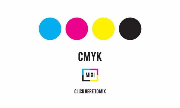 标准CMYK颜色天蓝色洋红色黄色和黑色png图片免抠eps矢量素材
