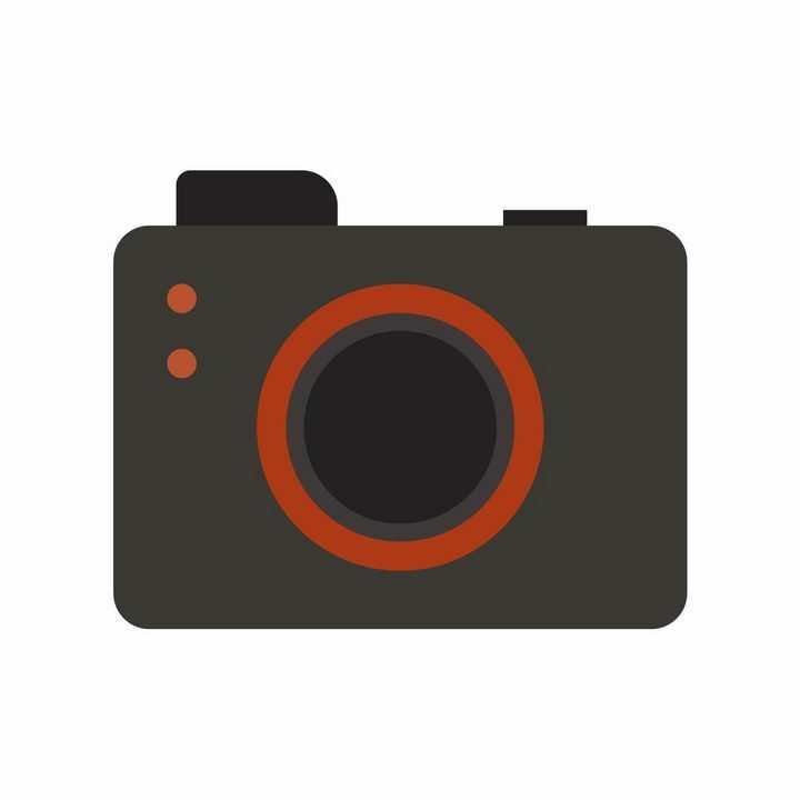 黑色红色双色照相机图标png图片免抠EPS矢量素材