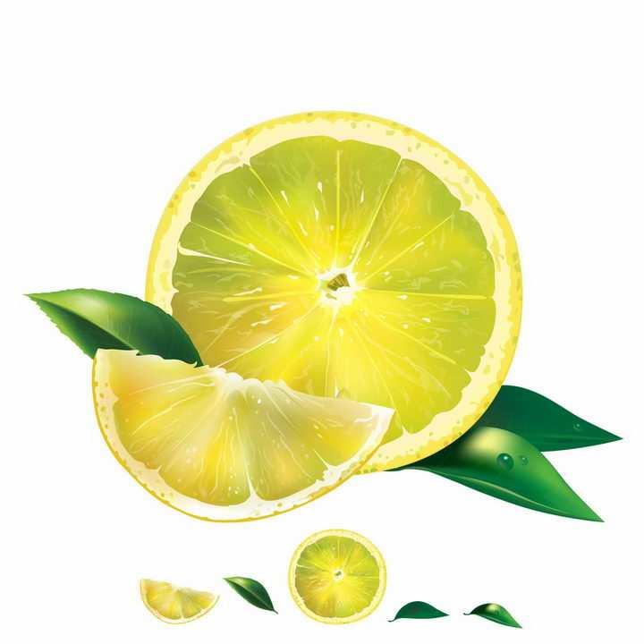 切开的柠檬水果横切面美味水果png图片免抠矢量素材