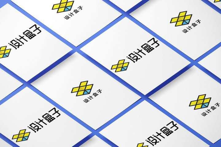两种图案整齐排列的A4纸白纸展示样机图片设计模板素材