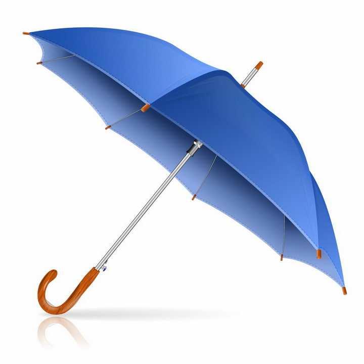 逼真的蓝色雨伞遮阳伞png图片免抠eps矢量素材